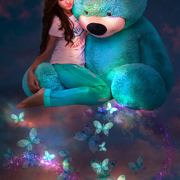 freetoedit fantasy fantasyart fantasygirl bear srcpurplesparkles