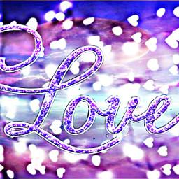 freetoedit purple lights hearts doubleexposure