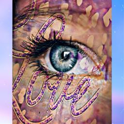 freetoedit love eye remixed purple ircmagiceye magiceye