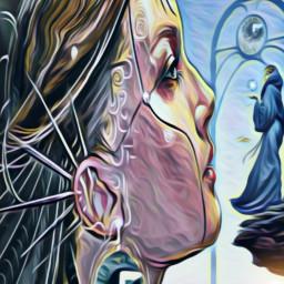 freetoedit popfantasy highlightmagiceffect oilpaintingeffect surrealism irc ircmagiceye
