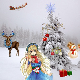 freetoedit cristmas lucy snow cold