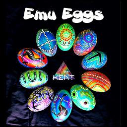 emu utingat eggs rainbow colourful