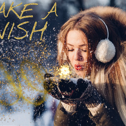 freetoedit snow makeawish gold glitter