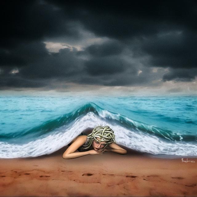 #freetoedit #creative #ocean #beach #sirena #water #editedwithpicsart #picsart @picsart #taylor_fotoshop_art