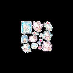 messy soft hellokitty stickers cute