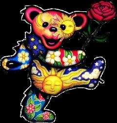 trippy sticker high interesting bear freetoedit