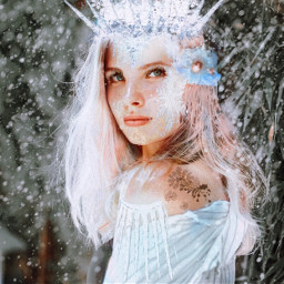 freetoedit winter makeup snowflakes beautiful ecchristmasmakeup