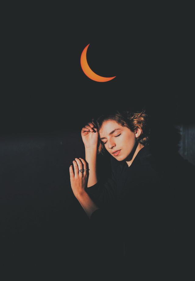 #freetoedit #moon#girl