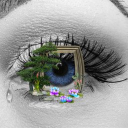 freetoedit eye blueeye sadness art