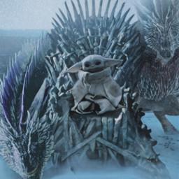 freetoedit babyyoda gameofthrones winter throne