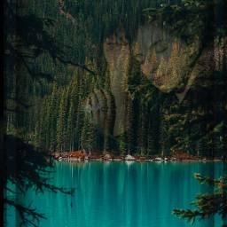 myedit harmonious serenity forest lake freetoedit ircharmonious
