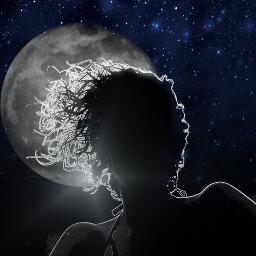 freetoedit vipshoutout neoneffect moon silhouette