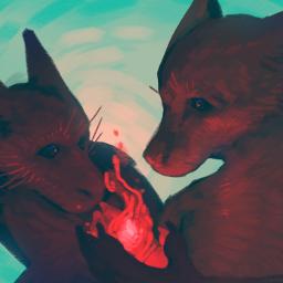 drawing digitalart anthro painting furry fire redaesthetic