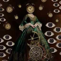 freetoedit clocks eyes myedit surreal