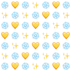 background emoji blue yellow snowflake freetoedit