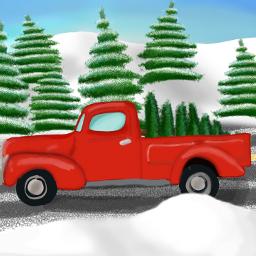 truck winter christmas christmastree dcwinterwonderland winterwonderland