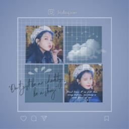 freetoedit blue iukpop iu kpop