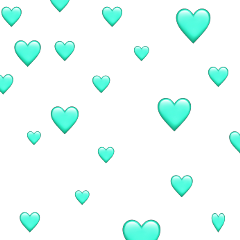 freetoedit turquoise hearts emojihearts sticker