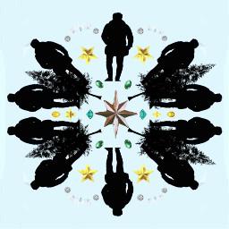 freetoedit snowflake mirroreffect jewel silhouette ircmansilhouette mansilhouette