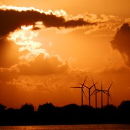 nature clouds windmills climatechange freetoedit
