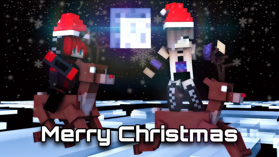 #christmas #minecraftart #adobephotoshop #night #snowflakes