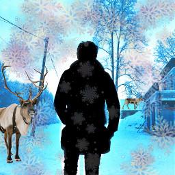 freetoedit remix challenge winter snow ircmansilhouette