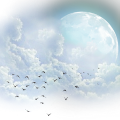 freetoedit ftestickers stickers moon clouds