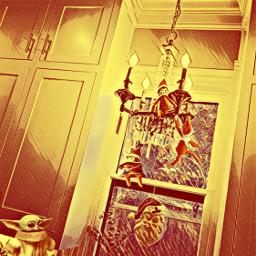 freetoedit poparteffect undeadmagiceffect chandelier elfontheshelf