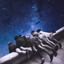 freetoedit children sky galaxy stars