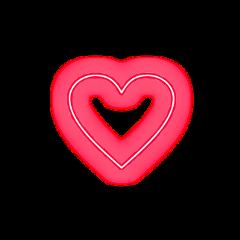 freetoedit heart red neon glow