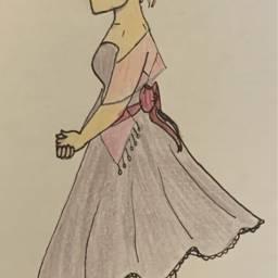art girl dress fancy traditional