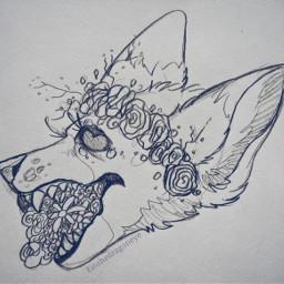drawing anthro flowers furry horror creepy