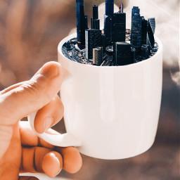 surreal surreality nature teacup cup ircteaday freetoedit