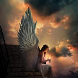 freetoedit angel angelgirl fantasy fantasyworld