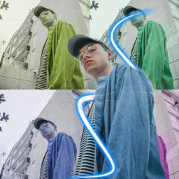 freetoedit popart neon spiral neonspiral