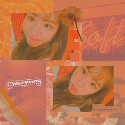freetoedit chaeyoung twice チェヨン orange