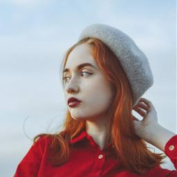 red redhair paris hat ginger