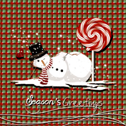 christmascard christmas snowman seasonsgreetings candycane freetoedit