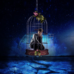 freetoedit harry harrypotter cage galaxybackground