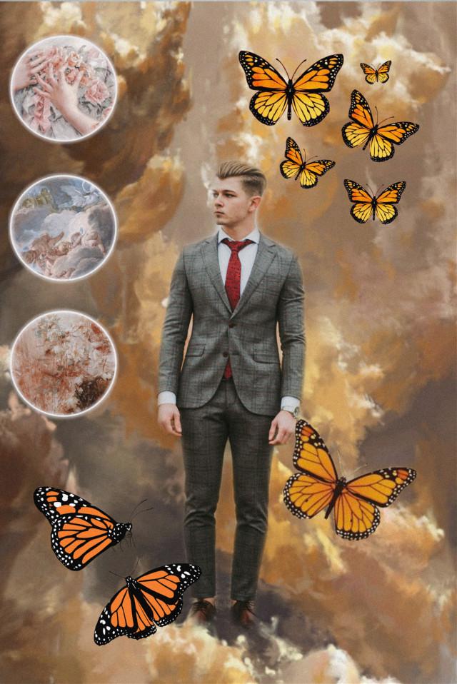 #freetoedit #renaissance #boy #monarchbutterfly