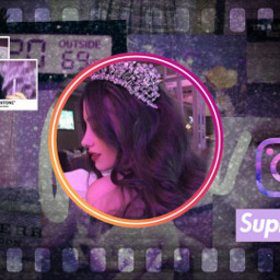 freetoedit purple crown haileesteinfeldedit beautifulbirthmarks