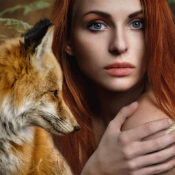 freetoedit girl fox editedwithpicsart myedit ircdeepinthewoods