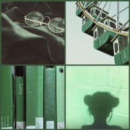 freetoedit green greenaesthetic books glasses
