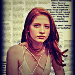 freetoedit remixed newspaper redhead longhair