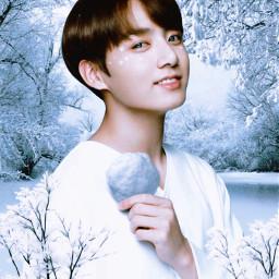 bts jungkook kpop snowfall xmas freetoedit