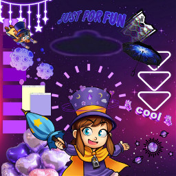 aesthetic purple hatkid ahatintime videogames freetoedit