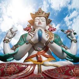 freetoedit clouds cloudscape cloudysky statue