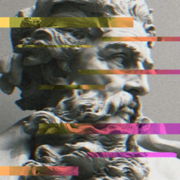 freetoedit sculpture roman neptune glitch