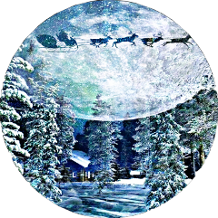 sleigh santa doubleexposure overlayeffect shapemask freetoedit scsleigh