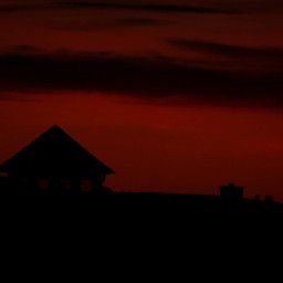 freetoedit silhouette sunset orangecolor urban